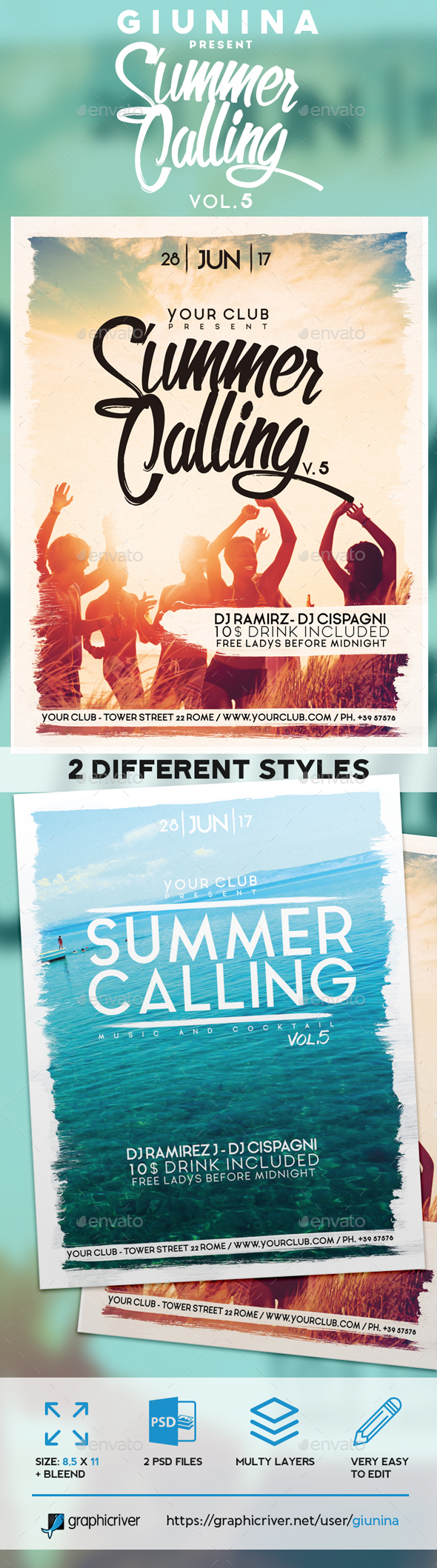 Summer Calling Vol. 4 Flyer/Poster - Events Flyers