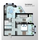 Vector Top View Illustration of Modern Two Bedroom - GraphicRiver Item for Sale