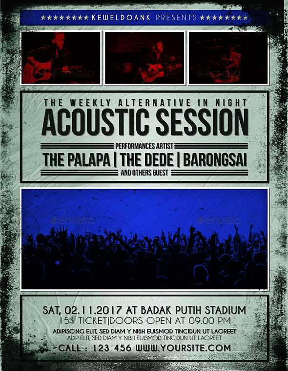 Acoustic Session Flyer / Poster