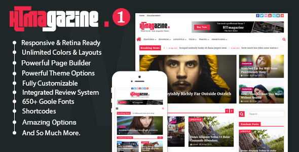 HTmagazine - Moderne Magazine,News & Blog WordPress Theme