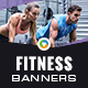 Fitness Banners - GraphicRiver Item for Sale