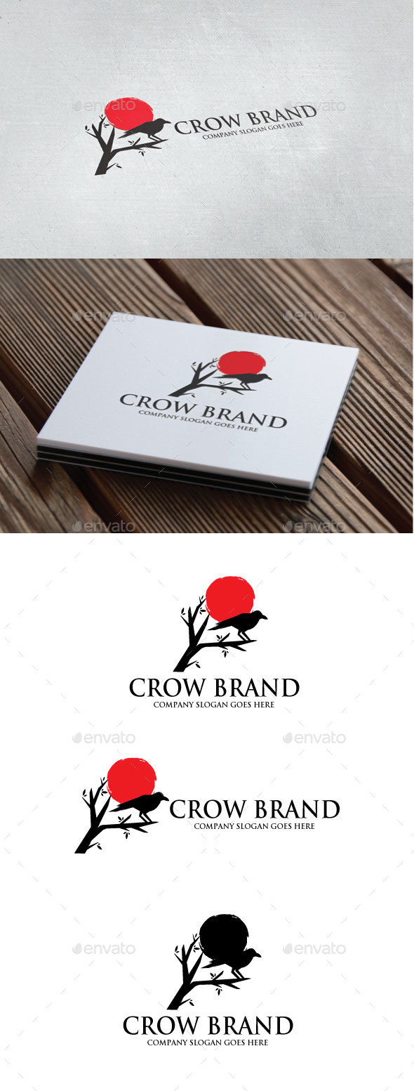 Crow Brand Logo - Animals Logo Templates