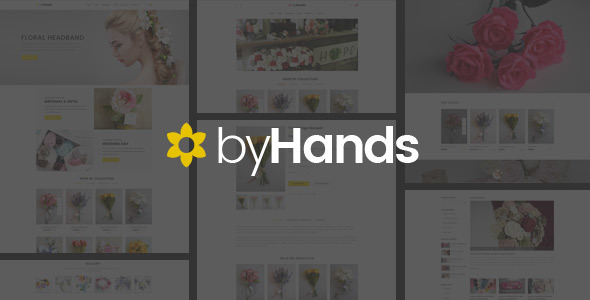 ByHands - Flower Store Virtuemart Template - VirtueMart Joomla