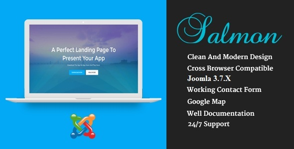 Salmon - One Page App Landing Business Joomla Theme