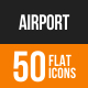 Airport Flat Round Icons