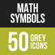Math Symbols Greyscale Icons - GraphicRiver Item for Sale
