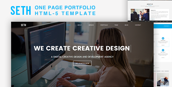 Download Seth - One Page Portfolio HTML5 Template