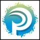 Print Splash P Letter Logo