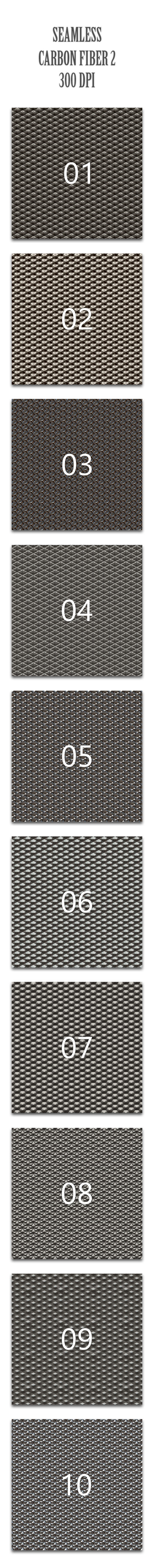Seamless Carbon Fiber 2 - Techno / Futuristic Textures / Fills / Patterns