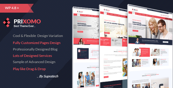 Prixomo - Corporate Responsive Multi-Purpose WordPress Theme