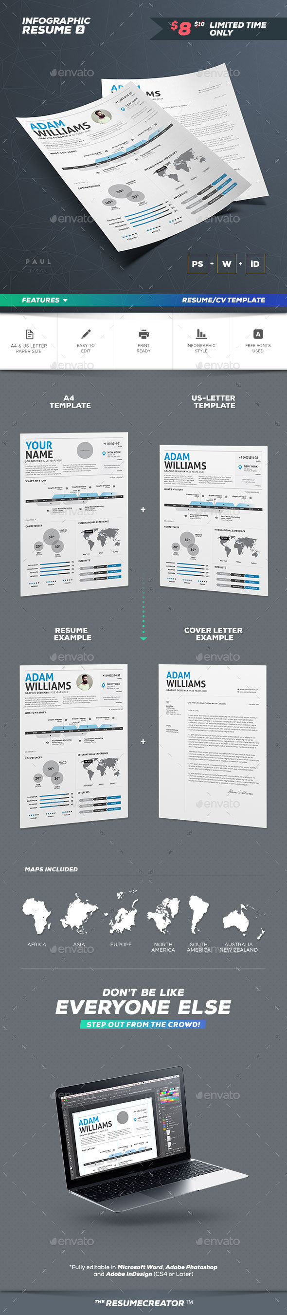 Infographic Resume Vol. 2 - Resumes Stationery
