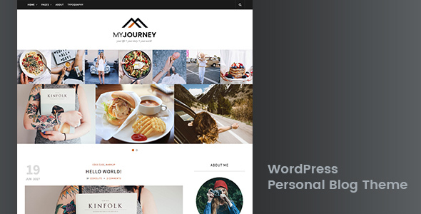 ThemeForest My Journey Personal Blog WordPress Theme 20206194