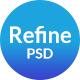 Refine App Landing PSD Template