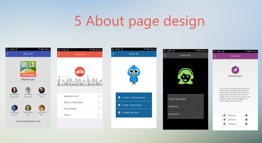 Android Starter Template By InnowityStudio CodeCanyon - About page template