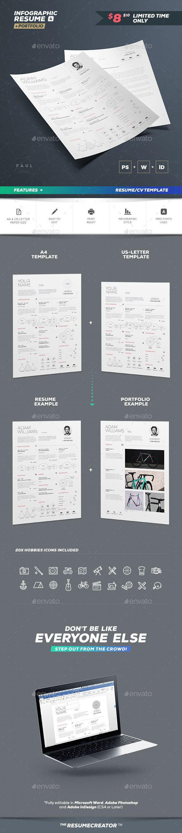 Infographic Resume Vol. 4