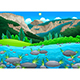 Mountain Landscape with Lake - GraphicRiver Item for Sale