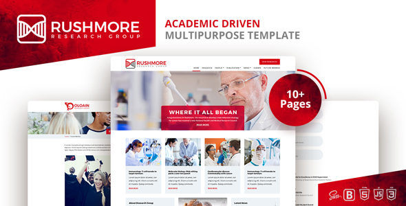 Rushmore-Academic Driven  Multipurpose Template - Corporate Site Templates