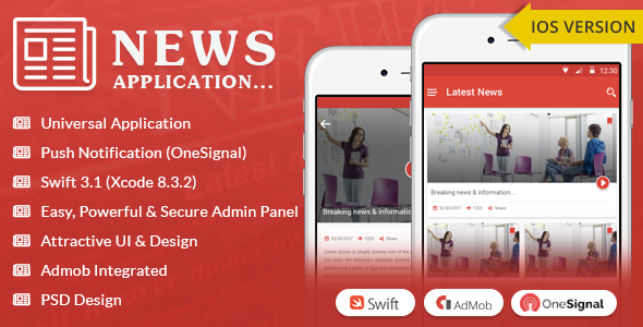 iOS News App - Swift3