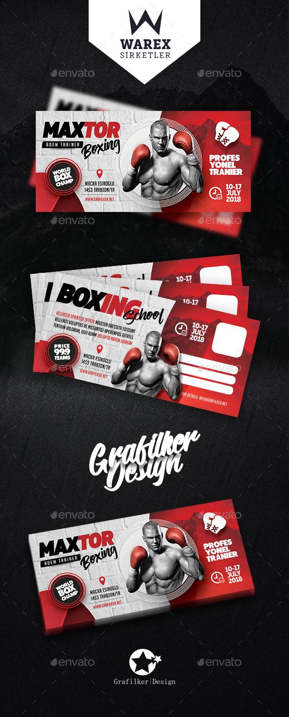Boxing School Postcard Templates - Cards & Invites Print Templates