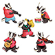 Group of Funny Badgers are Playing Music - GraphicRiver Item for Sale