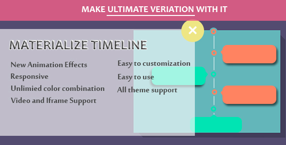 Visual Composer - Materialize Timeline - CodeCanyon Item for Sale