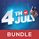4th of July Flyer Bundle (4 in 1) - GraphicRiver Item for Sale