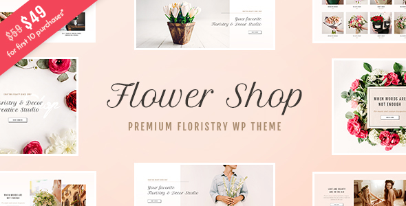 Flower Shop - Florist Boutique & Decoration Store WordPress Theme