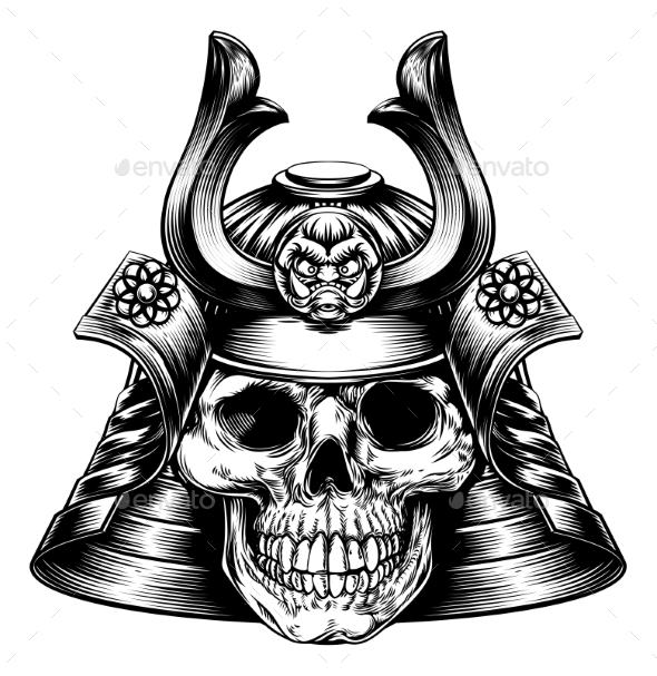 Samurai Skull - Miscellaneous Vectors