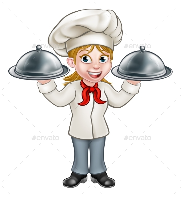 Woman Chef Cartoon Character - People Characters