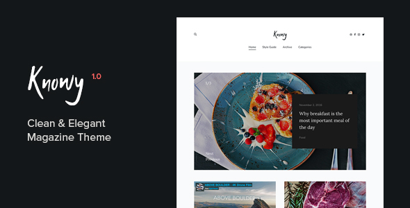 Knowy - Clean & Elegant Magazine Blog Theme