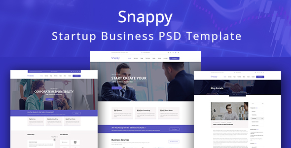 Snappy - Easy Startup Business PSD Template - Business Corporate