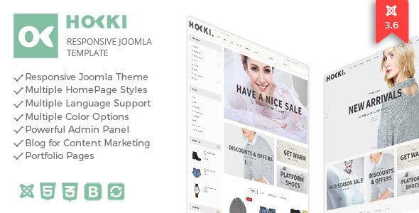 Hoki - Responsive Joomla Virtuemart Template - VirtueMart Joomla