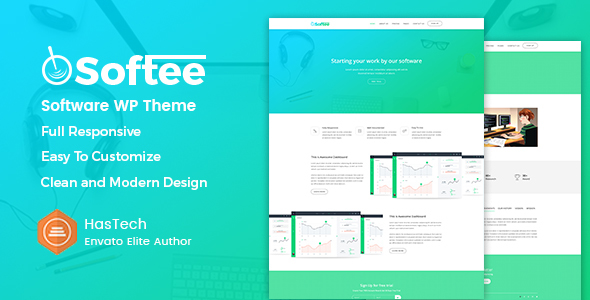 Image of Softee - Multipurpose Software / SaaS Product Theme