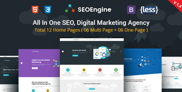 SEOEngine - SEO, Digital Marketing Agency HTML Template - Marketing Corporate