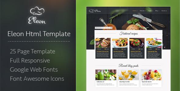 Eleon - Food Recipes HTML Template