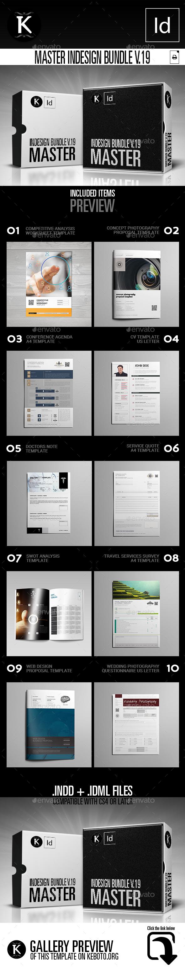 Master inDesign Bundle v.19 - Print Templates