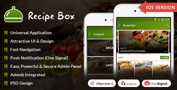 iOS Recipe Box - CodeCanyon Item for Sale