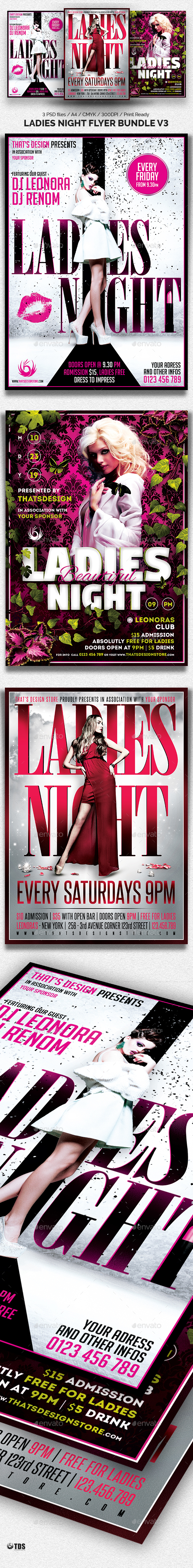 Ladies Night Flyer Bundle V3 - Clubs & Parties Events