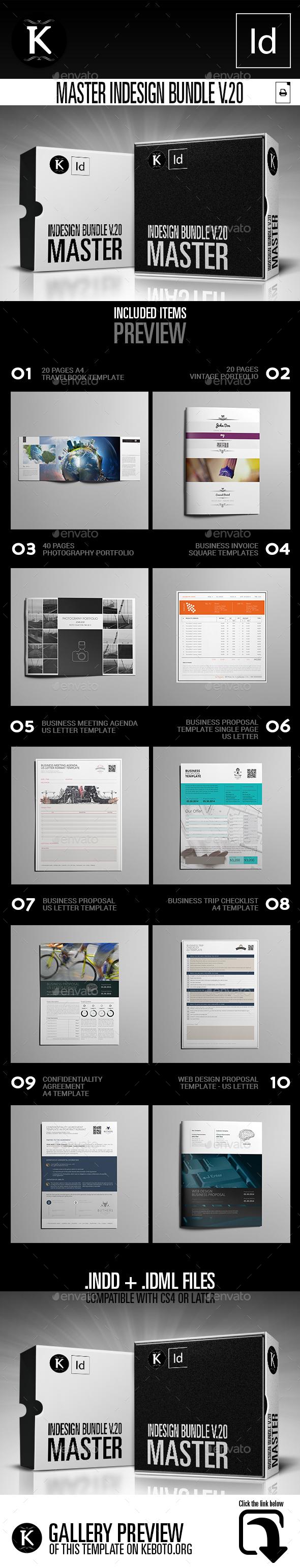 Master inDesign Bundle v.20 - Print Templates