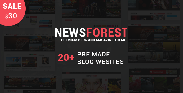 NewsForest -  Magazine / Blog WordPress Theme + RTL