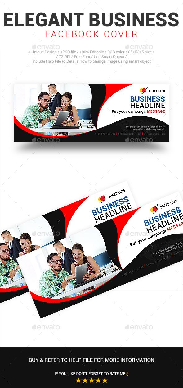 Elegant Business Facebook Cover Vol-01 - Social Media Web Elements