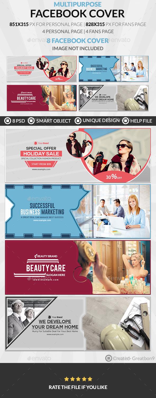 Facebook Cover Bundle (Vol - 8) - 8 Design - Facebook Timeline Covers Social Media
