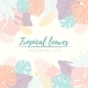 Hand Drawn Tropical Palm Leaves Card - GraphicRiver Item for Sale