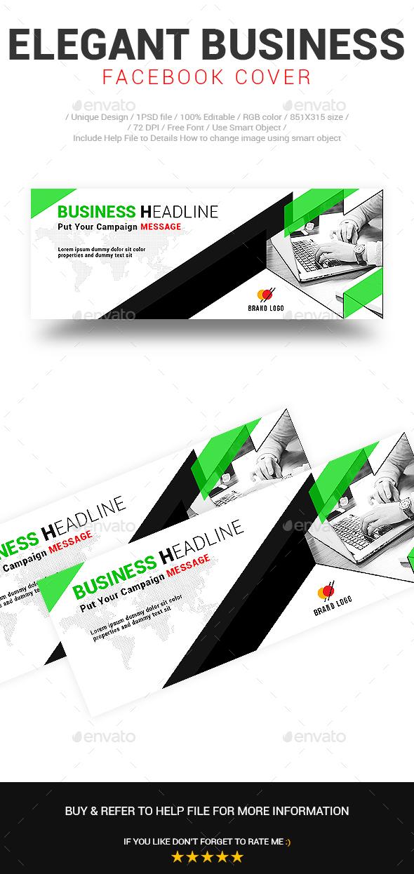 Elegant Business Facebook Cover Vol-02 - Social Media Web Elements