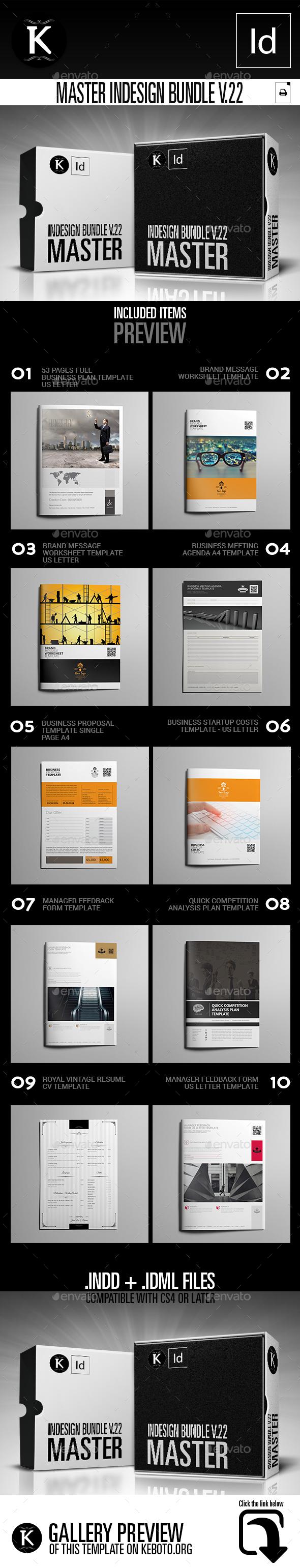 Master inDesign Bundle v.22 - Print Templates