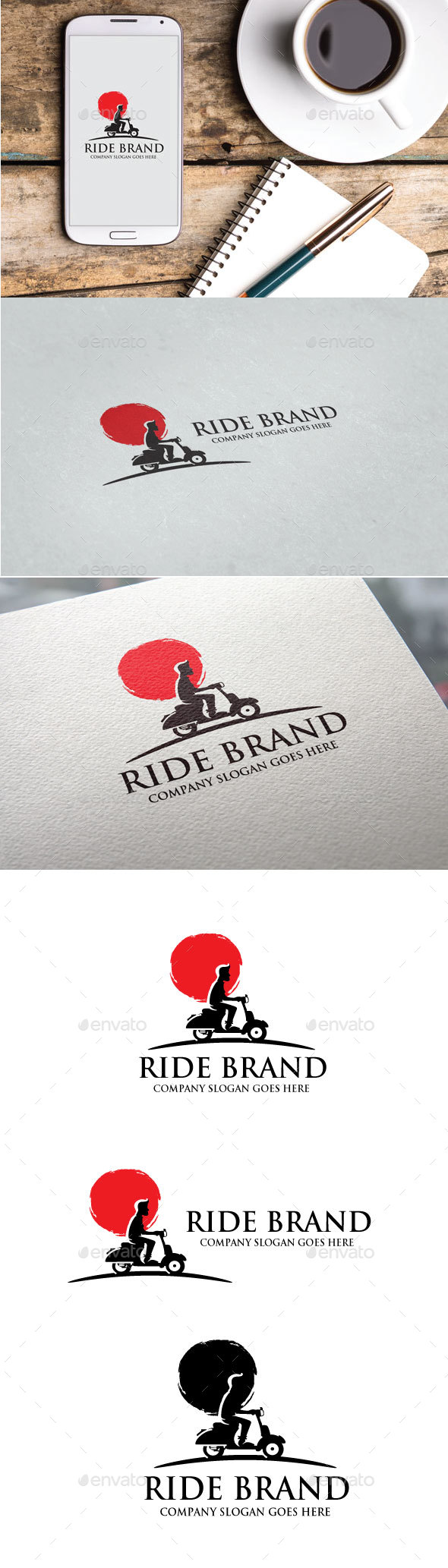 Ride Brand Logo - Objects Logo Templates