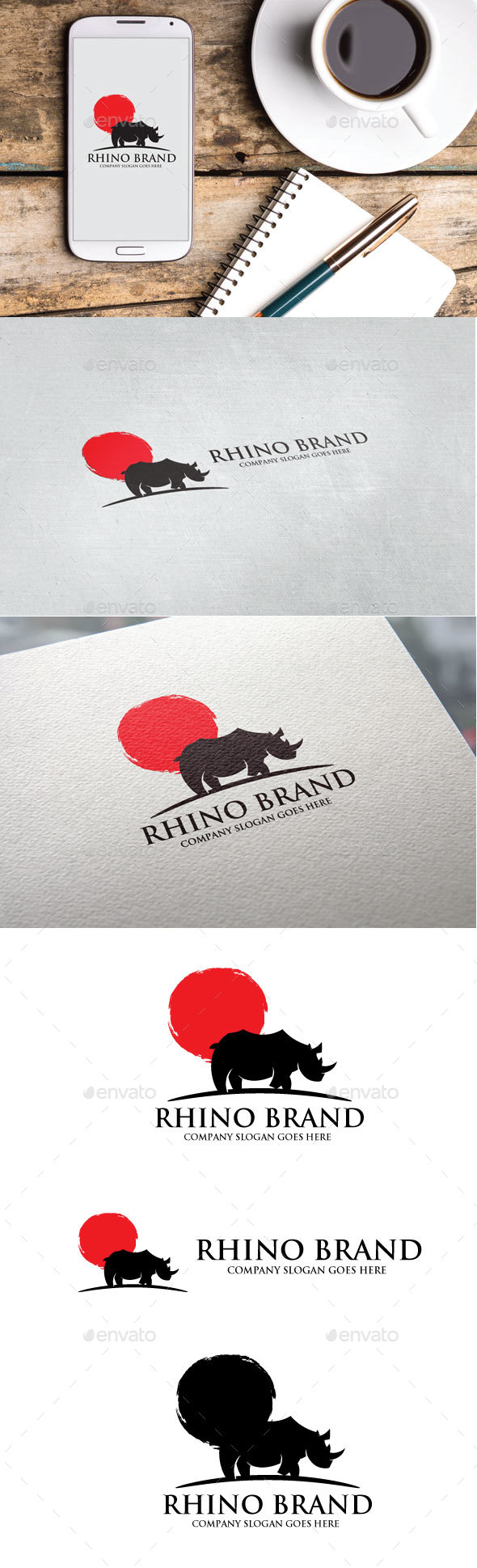 Rhino Brand Logo - Animals Logo Templates