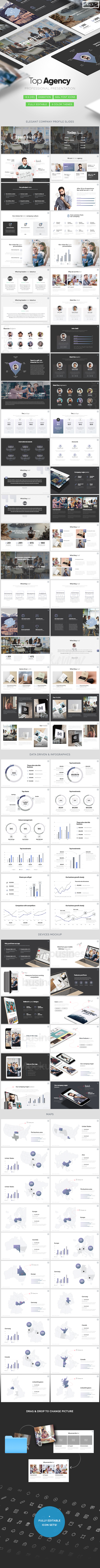 Top Agency - Powerpoint Template for Agencies - PowerPoint Templates Presentation Templates