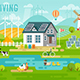 Eco Living Infographic - GraphicRiver Item for Sale