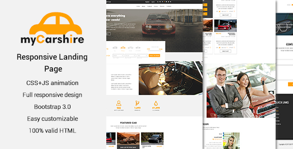 myCarshire - Car, Driving & Automobile One Page Template - Business Corporate